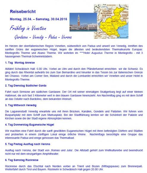 AV Venetien - Reisebericht